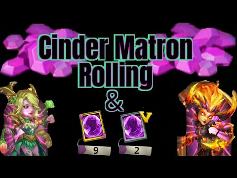 Rolling Gems & Premium Hero Cards | Cinder Matron | Castle Clash