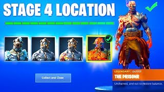 Cómo desbloquear STAGE 4 PRISONER SKIN KEY LOCATION (Snowfall Skin Fortnite Battle Royale)