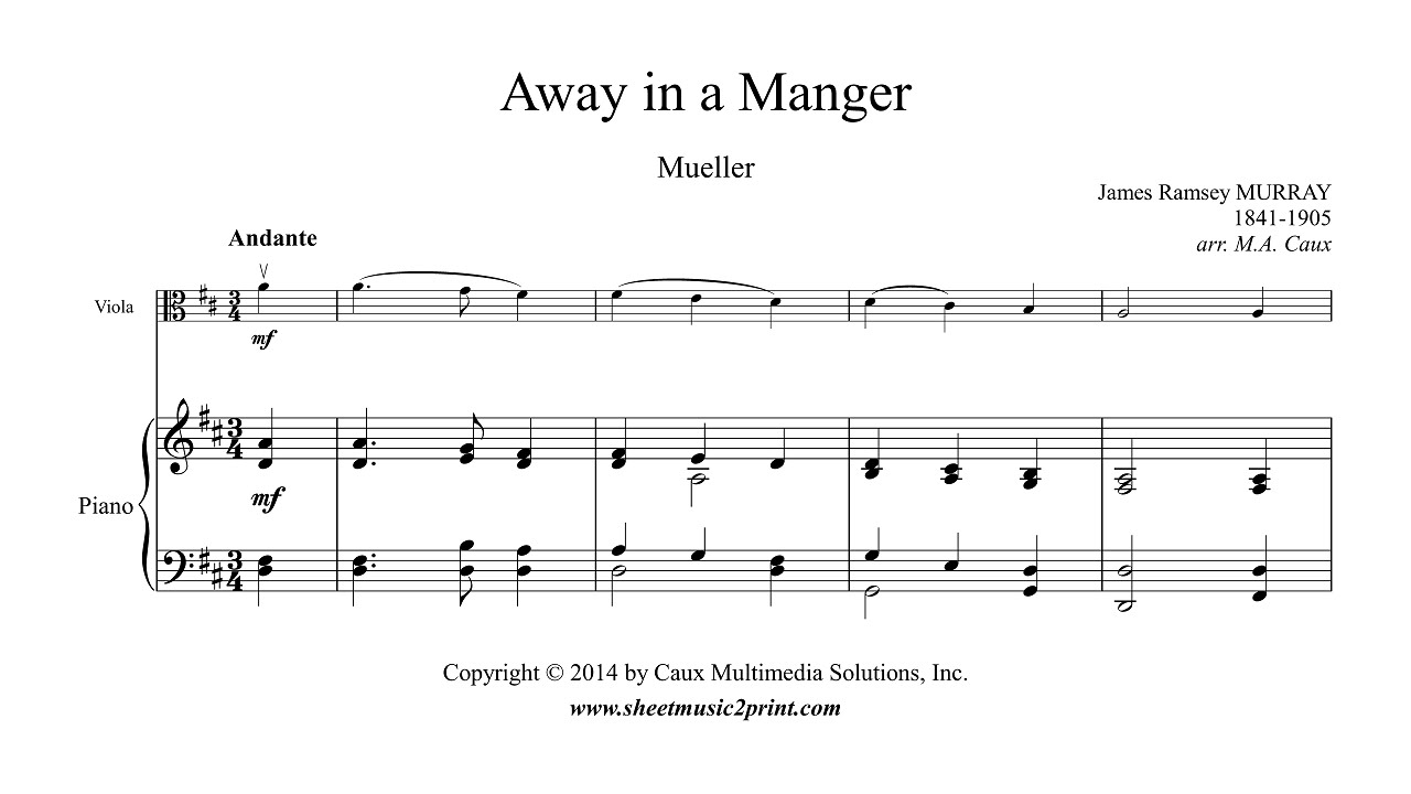 Murray : Away in a Manger - Viola - YouTube