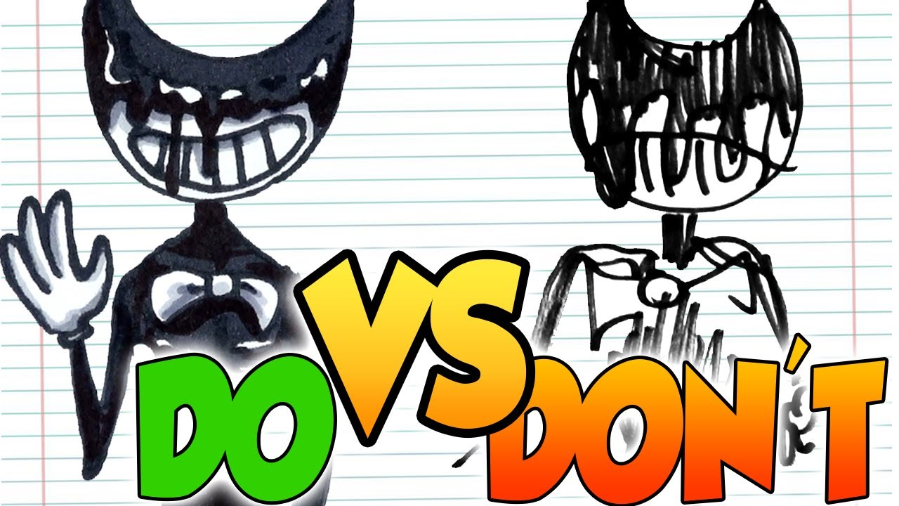 DOs & DON'Ts Drawing INK DEMON, BENDY etc. from Bendy and the Ink Machine In 1 Minute CHALLENGE!