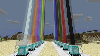 Minecraft Tutorials: How to make Beacon Lights Change Color