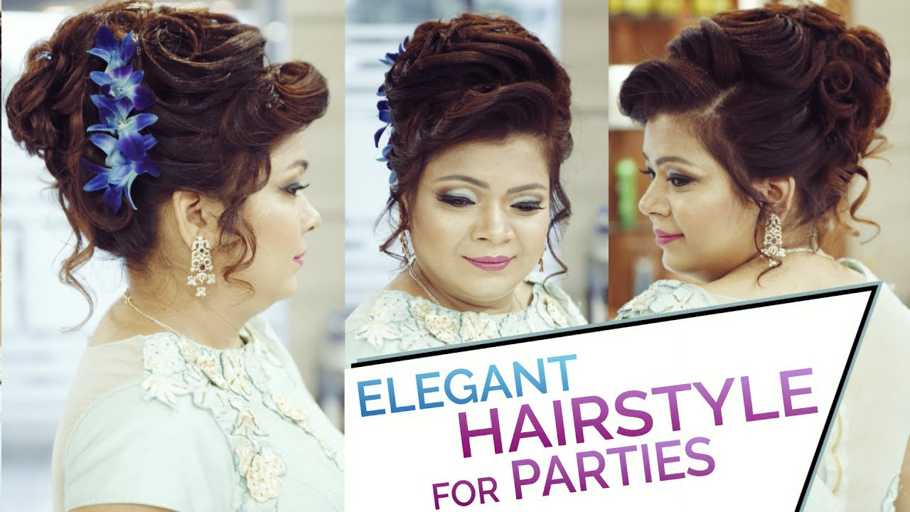 Easy Elegant Bun Hairstyle Updo For Parties Hairstyle Tutorial - Bun hairstyle for reception