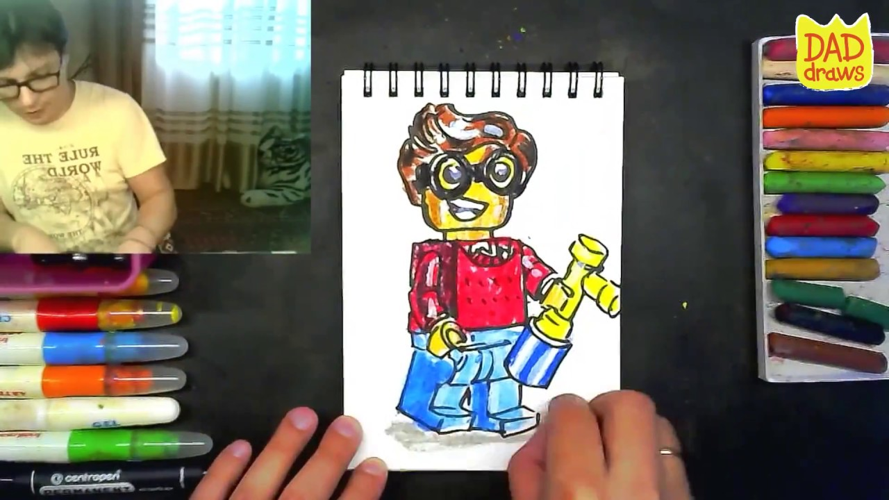 how to draw robin lego