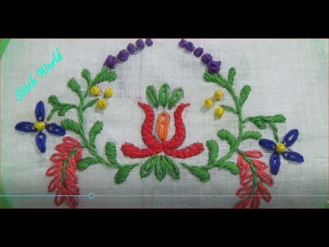 hand-embroidery-:-beautiful-kolka-design-:-youtube