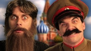 Rasputin vs Stalin.  Epic Rap Battles of History Season 2 finale.(http://nicepeter.com◅ Download on iTunes ▻ http://bit.ly/iTunesRussians Help us translate this battle into your language! ▻http://erb.fm/TranslateRussians◅ Hi., 2013-04-23T03:56:43.000Z)