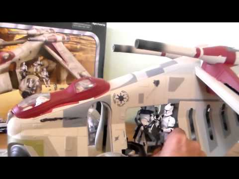 Star Wars The Republic Gunship Toy Review Toys''R''Us Exclusive