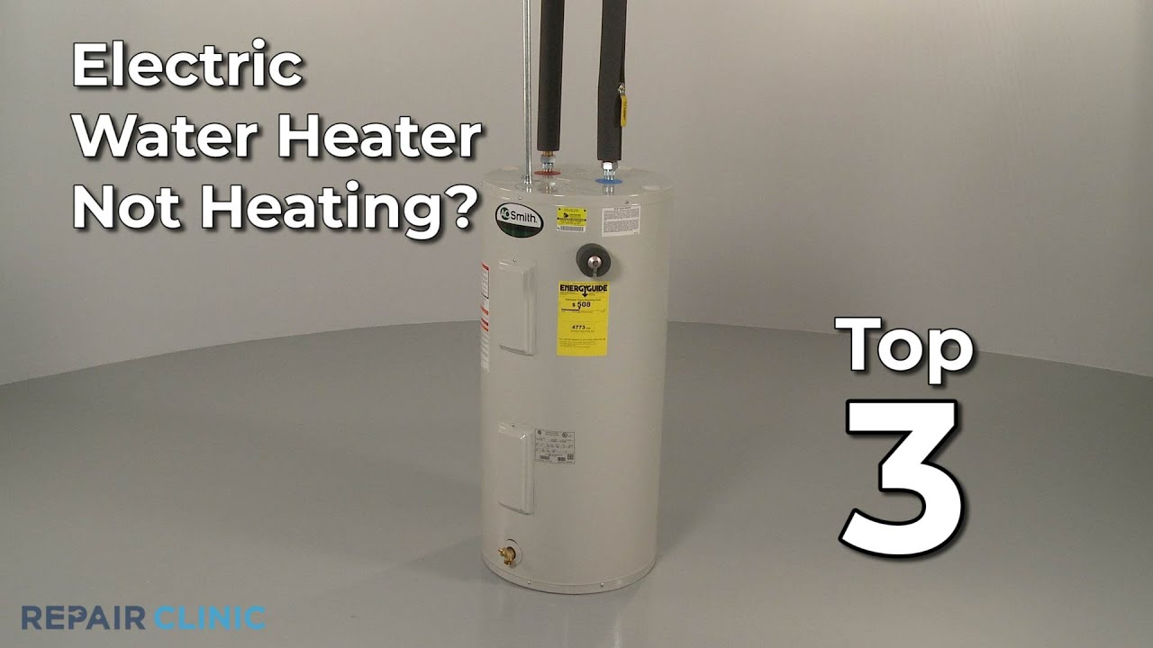 Electric Water Heater Not Heating Electric Water Heater Troubleshooting Youtube