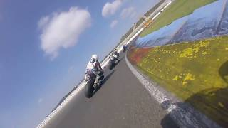 Troy Corser pillion ride Valencia