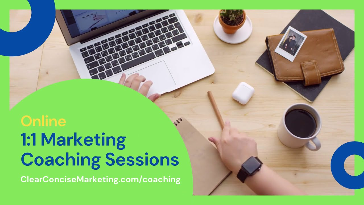 1:1 Marketing Coaching Sessions