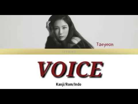TAEYEON - VOICE Lyrics [Kanji/Rom/Indo]