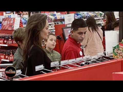 Angelina Jolie Shopping at Target with Shiloh and Knox Jolie-Pitt
