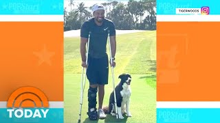 Tiger Woods Posts Picture Of Himself After Car Crash | TODAY
