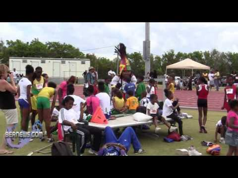 AJ The Gombey Visits IAAF World Athletics Day Bermuda May 21 2011