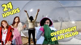 SPENDING 24 HOURS OVERNIGHT IN A BUBBLE TENT!