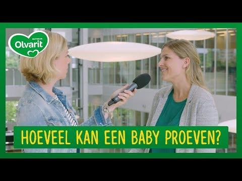 Hoeveel kan een baby proeven?