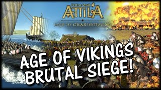 BRUTAL SIEGE! Age of Vikings Mod - Total War Attila Gameplay