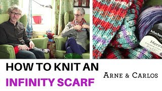 How to knit an infinity scarf - ARNE & CARLOS