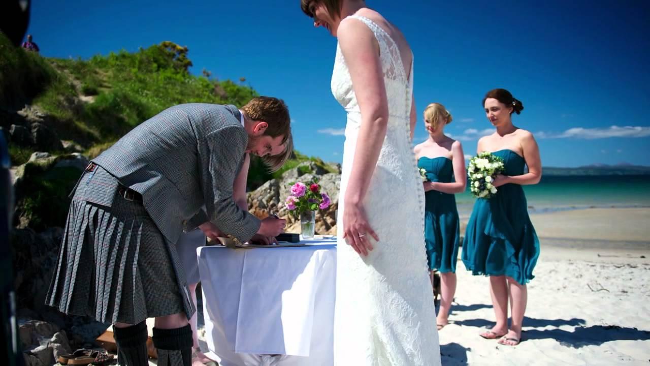 camusdarach beach wedding photography corrina amp tom youtube