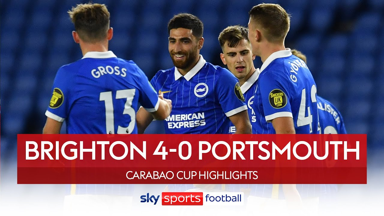 Jahanbakhsh scores stunner as Brighton run riot! | Brighton 4-0 Portsmouth | Carabao Cup Highlights