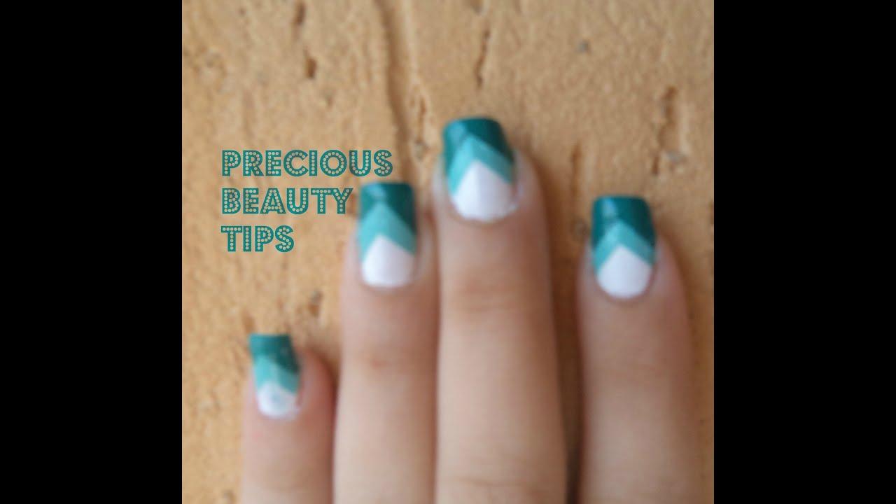 Easy Chevron Nails