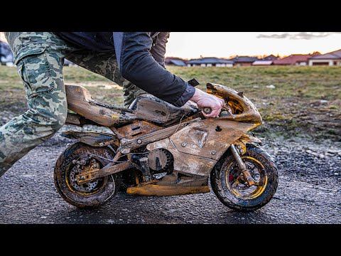 Kawasaki Ninja Minibike - Restoration Abandoned rusty Minibike - Crazy Restoration