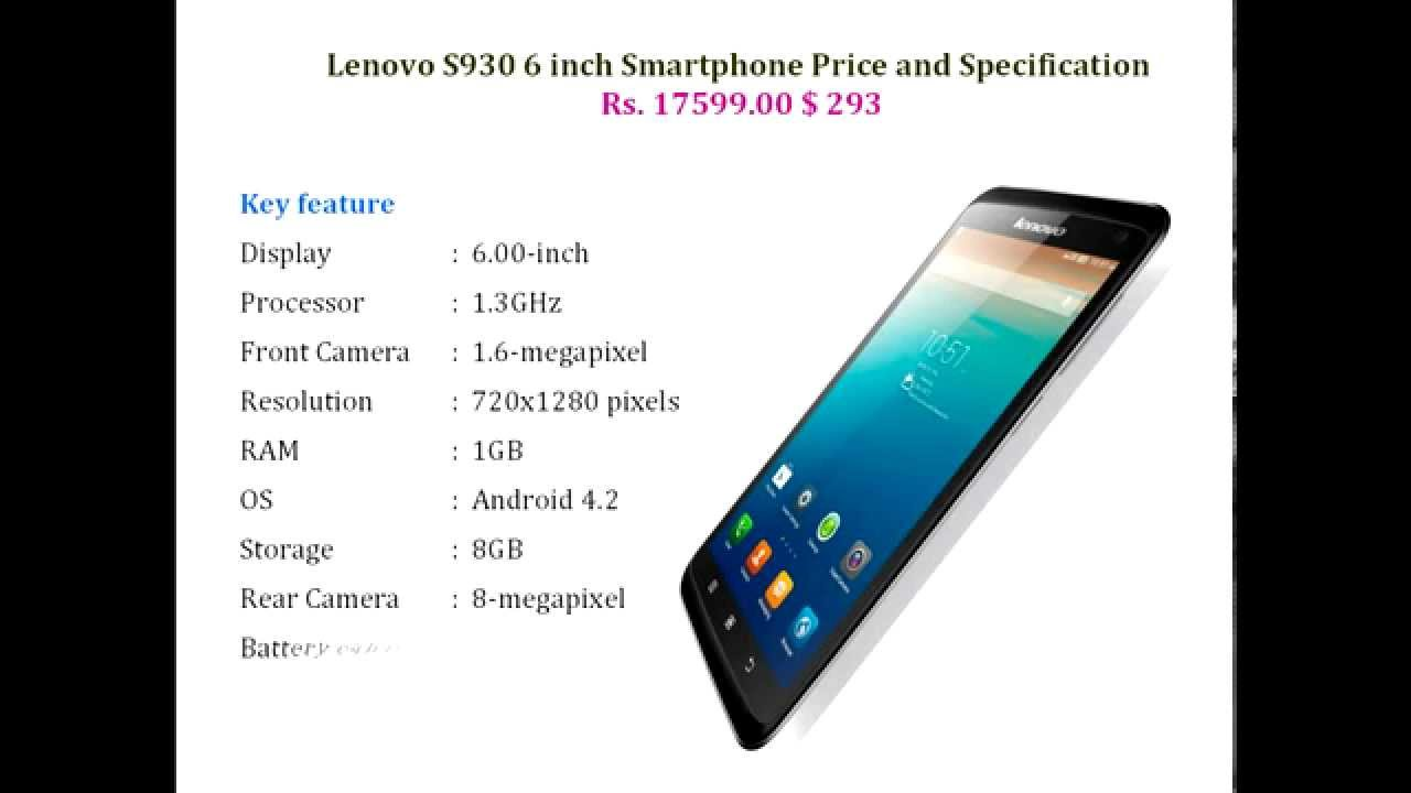 Lenovo S930 6 Inch Smartphone Price And Specification Youtube A850 4gb Putih