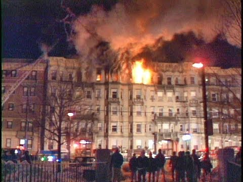 Huntington Ave Boston 5 Alarm Fire   1/21/1994..