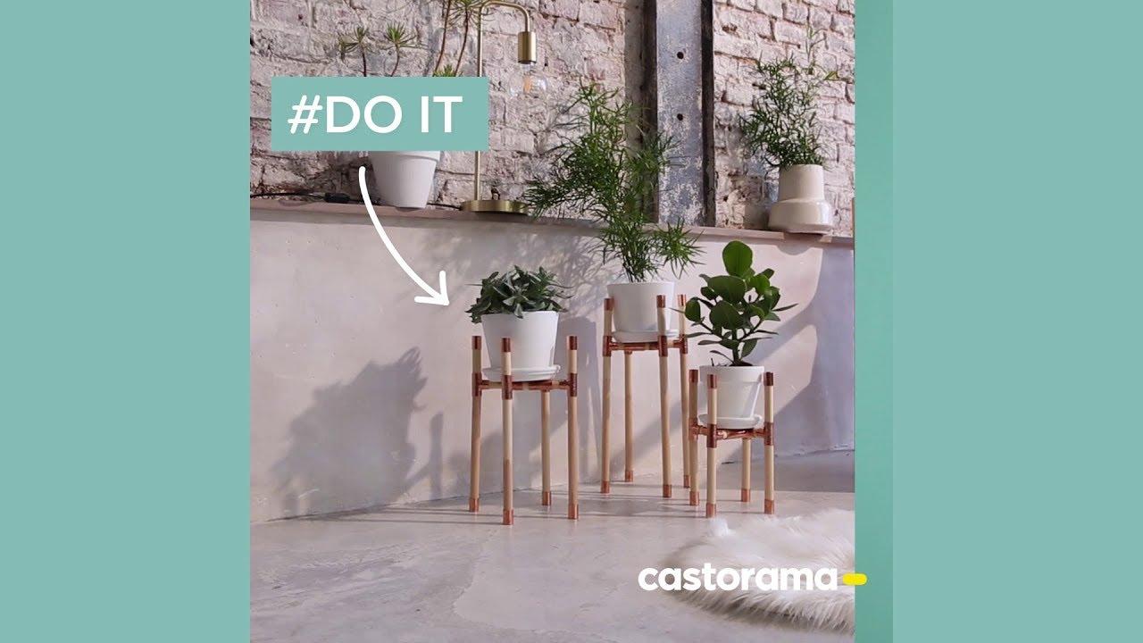 Fabriquer Une Étagère Pour Plantes diy : fabriquer un support pour plantes en bois et cuivre - castorama