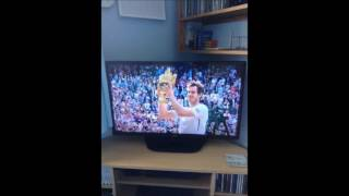 My Heartbeat watching Andy Murray play at Wimbledon