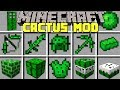 Minecraft CACTUS MOD l CRAFT CACTUS DIMENSION, ARMOR, ITEMS, HOUSE, MOBS! l Modded Mini-Game