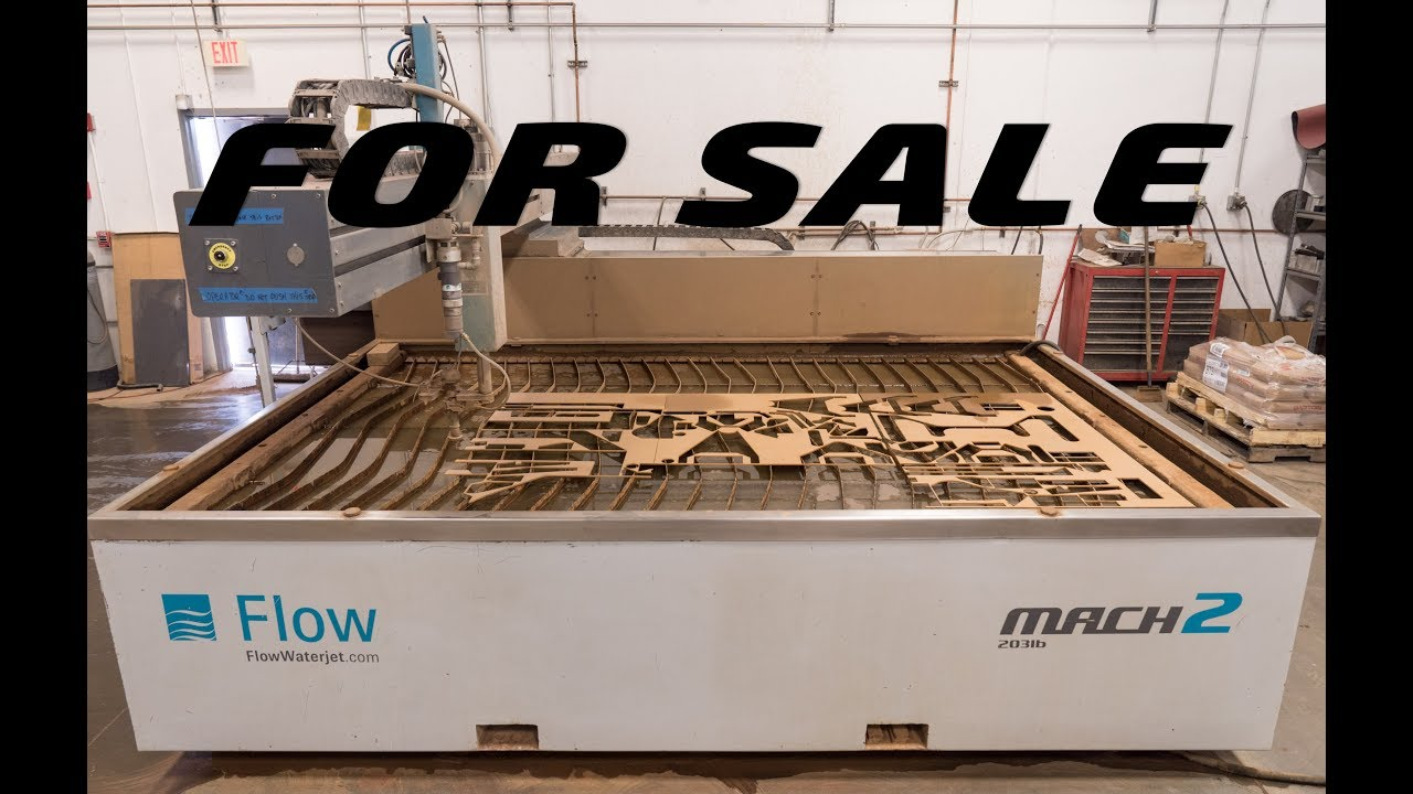 FOR SALE 2014 Flow Mach 2b Waterjet Cutting Machine
