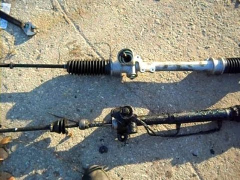 Passat B3. Замена рулевой рейки с ГУР на механическую (ручную)