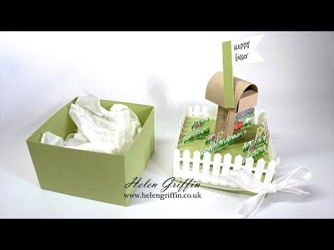 Springtime#7 Spring/Easter Picket Fence Gift Box