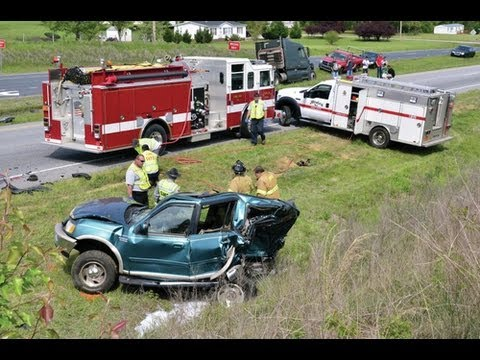 Big Rig Accident on Highway 64 East Kills 22 Year Old Woman ~ Ramseur, N C   (Part 1) 426-13
