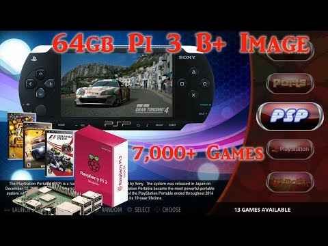 New Pi 3 B+ 64gb Damaso Retropie - 7,002+ Games - Arcade Punks