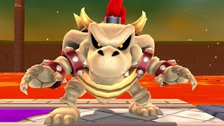 Super Mario 3D Land - All Boss Fights With Luigi (Bowser, Dry Bowser, Boom Boom & Pom Pom)