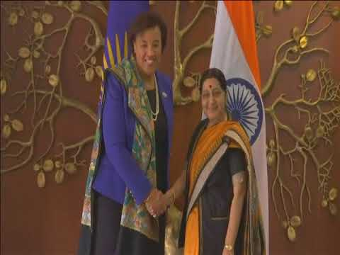 Commonwealth chief meets Indian foreign minister in New Delhi
