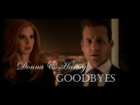 Donna and Harvey - too good at GOODBYES