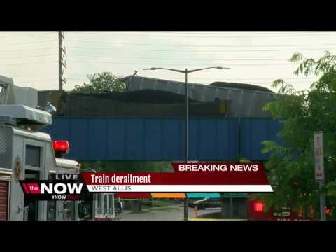 Train derailment in West Allis