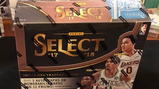 Panini Basketball Select First Off The Line Hobby Box. Rookie Galore!!