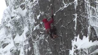 Dave MacLeod climbing The Hurting - XI,11