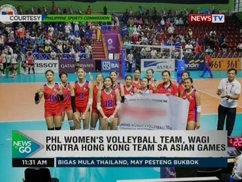 Ntg Phl Women S Volleyball Team Wagi Kontra Hong Kong Sa Asian