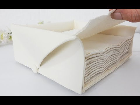 DIY White Napkin Holder