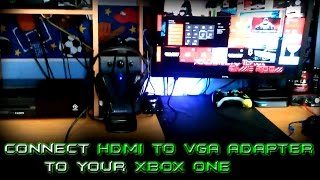 How To: Connect HDMI to VGA Converter to your Xbox One