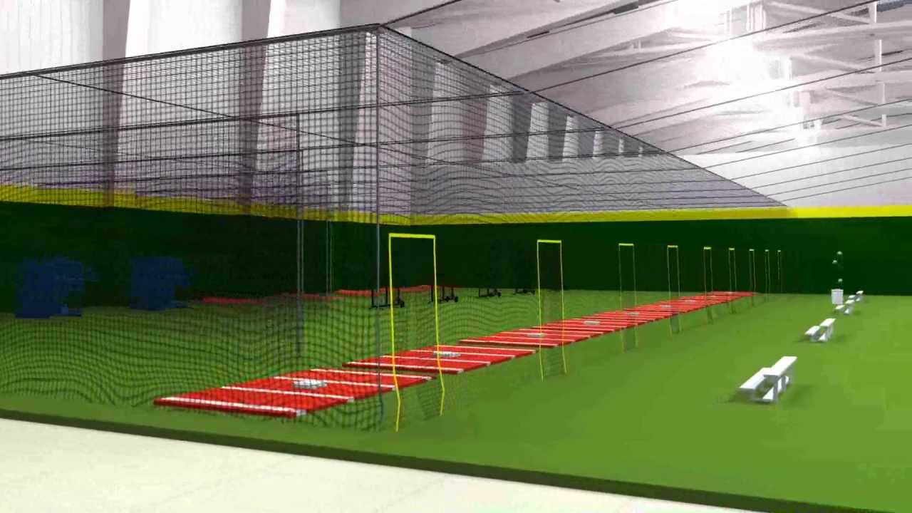Image gallery indoor batting cages for Design indoor baseball facility