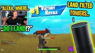 I asked AMAZON ALEXA to help me WIN in Fortnite and THIS happened... (amazing)