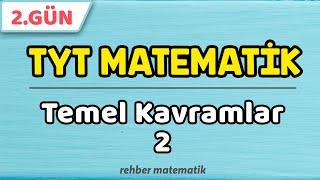 Temel Kavramlar 2  49 Günde TYT Matematik 2.Gün rmtayfa 2021tayfa