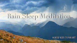 rain sleep meditation helps with anxiety deep sleep relaxation