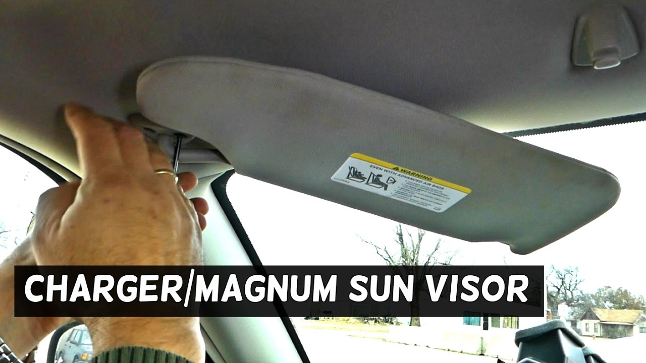 Dodge Charger Sun Visor Replacement Removal Fail Magnum Youtube 1966 Wiring Diagram