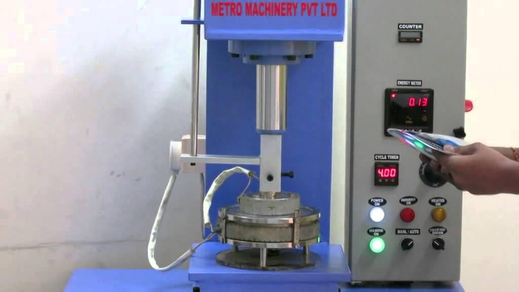 Paper Plate Machine (semi automatic ) working vedio metro machinery - YouTube & Paper Plate Machine (semi automatic ) working vedio metro machinery ...